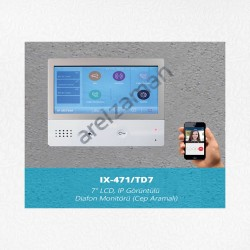 IX-471/TD7 7″ IP Dokunmatik Ekran Daire Monitörü